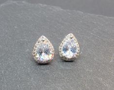 Cute Girls 925 Sterling Silver Crystal Cat Ears Earrings Head Stud Boxed