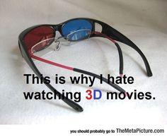 Why I Dislike 3D Movies