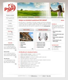 Redesign for PSP group s.r.o.