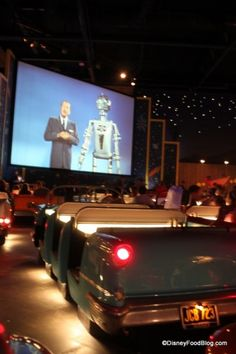 One of the best #DisneyWorld restaurants for themeing -- Sci-Fi Dine-In Theater!