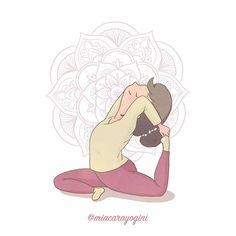 Eka Pāda Rājakapotāsana, king pigeon pose 🐦 #ekapādarājakapotāsana #kingpigeonpose #piccionereale #motivazione #yoga #meditazione #yogi #namaste #mindfulness #yogagirl #motivation #asana #yogini #yogapose #diarioyogaillustrato #yogaart #yogaillustration #miacarayogini #arteyoga #diarioyoga #arteyoga #inspiraespira #yogadoodle #yogaillustrators #mandala #om Yoga Pigeon Pose, King Pigeon Pose, Yoga Illustration, Yoga Art, Asana, Namaste, Yoga Poses, Illustrators, Mandala