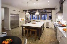This chef's kitchen boasts viking/sub zero, with large marble island. Chicago Gold Coast