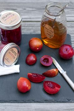 Plums, wine, and honey via Local Kitchen