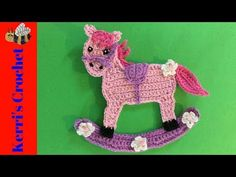 In this crochet tutorial video I'll be showing you how to make this crochet rocking horse. If you would like to view the crochet pattern for free, it's on my. Crochet Horse, Love Crochet, Crochet Animals, Single Crochet, Crochet Flower, Applique Design, Applique Patterns, Crochet Instructions, Tutorial Crochet