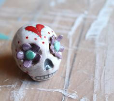 Sugar Skull  Ceramic Calavera by concreta on Etsy, €17.00
