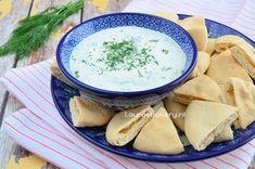 Tzatziki met pitabrood - Laura's Bakery Tzatziki, Healthy Snacks, Healthy Recipes, Sweet Chili, High Tea, Hummus, Bakery, Snack Recipes, Good Food