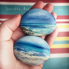 How to quickly make a beautiful gradient base coat Stone Art Painting, Seashell Painting, Pebble Painting, Pebble Art, Painted Garden Rocks, Painted Rocks Craft, Hand Painted Rocks, Rock Painting Patterns, Rock Painting Ideas Easy