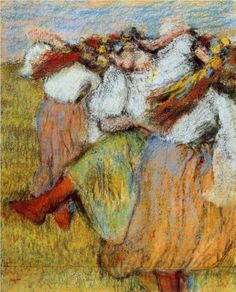 ...Russian Dancers - Edgar Degas.  I love this painting, it's hanging on my bedroom wall.