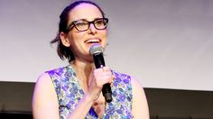 Comedy writer Jessi Klein speaks at the Tribeca Film Festival in 2015. Klein has also written for Saturday Night Live and Transparent.