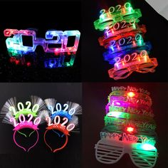 Flashing Led Glasses Luminous Light Up Gift Glowing Headband new years eve party supplies 2020 christmas navidad Christmas Glasses, Christmas Fun, Glow Party Supplies, New Year Table, New Year's Makeup, Led, New Year Gifts, New Years Eve Party, Festival Party