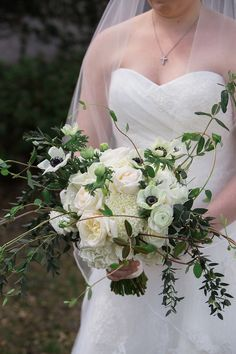 Photography: Virgil Bunao Photography - http://www.stylemepretty.com/portfolio/virgil-bunao Floral Design: Island Flower and Garden - http://www.stylemepretty.com/portfolio/island-flower-and-garden Wedding Dress: Judd Waddell - http://www.stylemepretty.com/portfolio/judd-waddell   Read More on SMP: http://www.stylemepretty.com/2014/12/16/rustic-spring-wedding-at-the-greyfield-inn/
