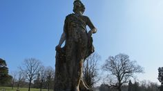 One of a pair of Coate stone statues aligned with the avenue of trees in the Park.