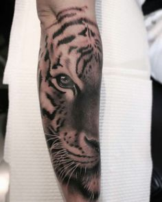 Tiger forearm tattoo!