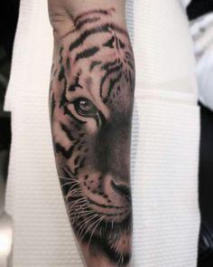 Tiger forearm tattoo!