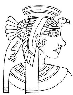 Kleurplaat Cleopatra