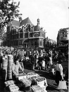 Le Marché des Halles, photo Studio Chevojon, vers 1940.