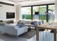 Projekt domu HomeKoncept-45 G2 118,49 m² - koszt budowy - EXTRADOM Outdoor Furniture Sets, Outdoor Decor, Fresh, Home Decor, Simple House, Modern Townhouse, Decoration Home, Room Decor, Home Interior Design