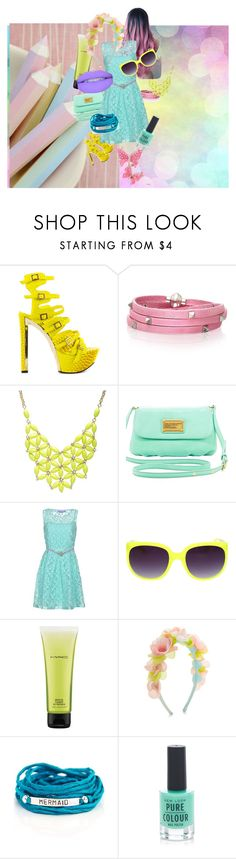 """""""Pastel Outfit"""" by rabita-fatima on Polyvore featuring Privileged, Sif Jakobs Jewellery, Alexa Starr, Marc by Marc Jacobs, 22 Maggio, MAC Cosmetics, Monsoon, Blooming Lotus Jewelry and New Look"""