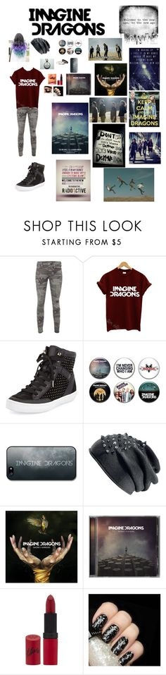 Imagine dragons by geekygamergirl38 on Polyvore featuring INDIE HAIR, True Religion, Rebecca Minkoff, Rimmel, Illamasqua and CO