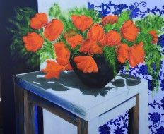 2015 Tulpen, 135x165cm Paintings, Plants, Tulips, Paint, Painting Art, Plant, Painting, Painted Canvas, Drawings