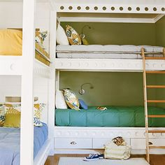 Loving all of these bunkbeds! This will go in my future beach house! =)