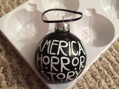 American Horror Story Hand Painted Glass Ornament by KaleyCrafts on Etsy (null)