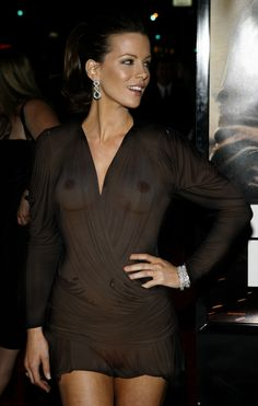 Hollywood celeb Kate beckinsale in a see thru top at a Red Carpet event