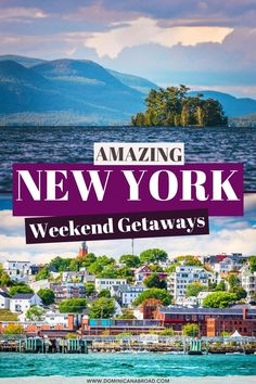 Weekend Getaways From Nyc, Weekend In Nyc, Weekend Trips, New York Vacation, New York City Travel, Cool Places To Visit, Places To Travel, Travel Destinations, York Things To Do