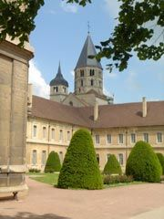 Town of Cluny, Burgundy, Monastery and Tourist Information, Saône et Loire, Bourgogne, France