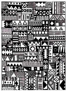 Loela Aztec Print Art Print