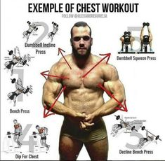 Lower chest workout, Example of chest workout, Exercises for Every Part of the Chest, Exercise of the upper chest, Videos & Guides Every Part of the Chest Lower Chest Workout, Chest Workout For Men, Chest Workouts, Gym Workouts, Best Kettlebell Exercises, Tips Fitness, Fitness Diet, Health Fitness, Aerobics Workout