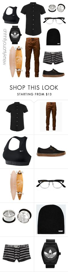 """""""Untitled #223"""" by ohhhifyouonlyknew ❤ liked on Polyvore featuring Topman, Jack & Jones, NIKE, GoldCoast, Cutler and Gross, Neff, Aéropostale and adidas Originals"""