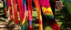 silk painted scarf tutorial hanging scarves waldorf inspired moms