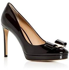 8ef3913fc3ba Salvatore Ferragamo Women s Osimo Patent Leather High-Heel Platform Pumps