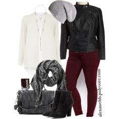 Wine Jeans - Plus Size, created by alexawebb on Polyvore