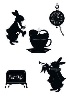Alice in Wonderland - Laura Barrett - Illustration Portfolio - London Based Freelance Silhouette & Pattern Illustrator Alicia Wonderland, Alice In Wonderland Party, Adventures In Wonderland, Wonderland Events, Machine Silhouette Portrait, Alice In Wonderland Silhouette, Silhouettes, 3d Templates, Silhouette Tattoos