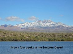 Four Peaks with snow.