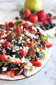Quinoa and Berry Salad with Fresh Pear Dressing