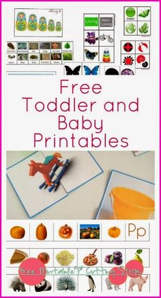 Montessori Nature: Free Baby and Toddler Printables (KLP Link Up) Repinned by Apraxia Kids Learning. Come join us on Facebook at Apraxia Kids Learning Activities and Support- Parent Led Group.