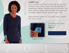 188 Carrie Knit Tee - 188-12 (Navy) WHILE SUPPLIES LAST