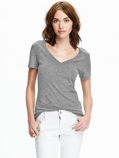 Relaxed V-Neck Tee Product Image