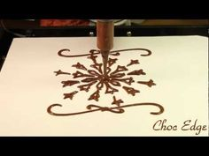 Snowflake printed with dark Belgian Chocolate now available to order for Christmas 2012!   Visit: ChocEdge.com