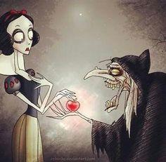 Snow White Tim Burton style