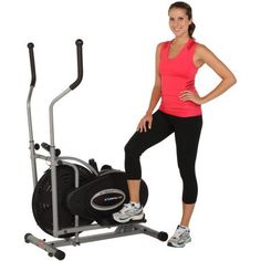 Air Elliptical Trainer Fitness Exercise Cardio Workout Training Home Gym Equipment Natural Elliptical Motion Eliminates Stress on Joints Ankles Tension Resistance Adjustment User Weight Up to 220 lbs -- For more information, visit image link.