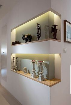 Ceiling Design Living Room, Home Room Design, Home Interior Design, Living Room Designs, Interior Decorating, House Design, Interior Walls, Niche Design, Wall Design