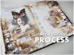 (6) Timeless Beauty ♡ Vintage Collage Journal Page Session ♡ Maremi's Small Art ♡ - YouTube