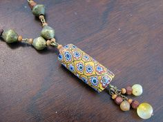 African Trade Bead Necklace....