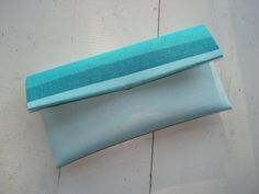 Blue & Teal Clutch by AnnabelleMB on Etsy, $18.00. Great gift for a grad with some money inside!