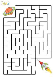 Preschool Learning, Kindergarten Worksheets, Worksheets For Kids, Preschool Crafts, Space Crafts For Kids, Math For Kids, Puzzles For Kids, Space Activities, Montessori Activities