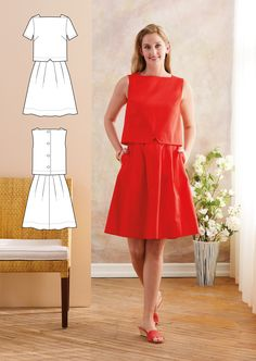 Introducing our newest Lisette pattern, Lisette for Butterick, a summer dress that has the look of separates. Bold Prints, Different Fabrics, Your Style, Fancy, Fashion Outfits, Summer Dresses, Casual, Separates, Sewing Ideas
